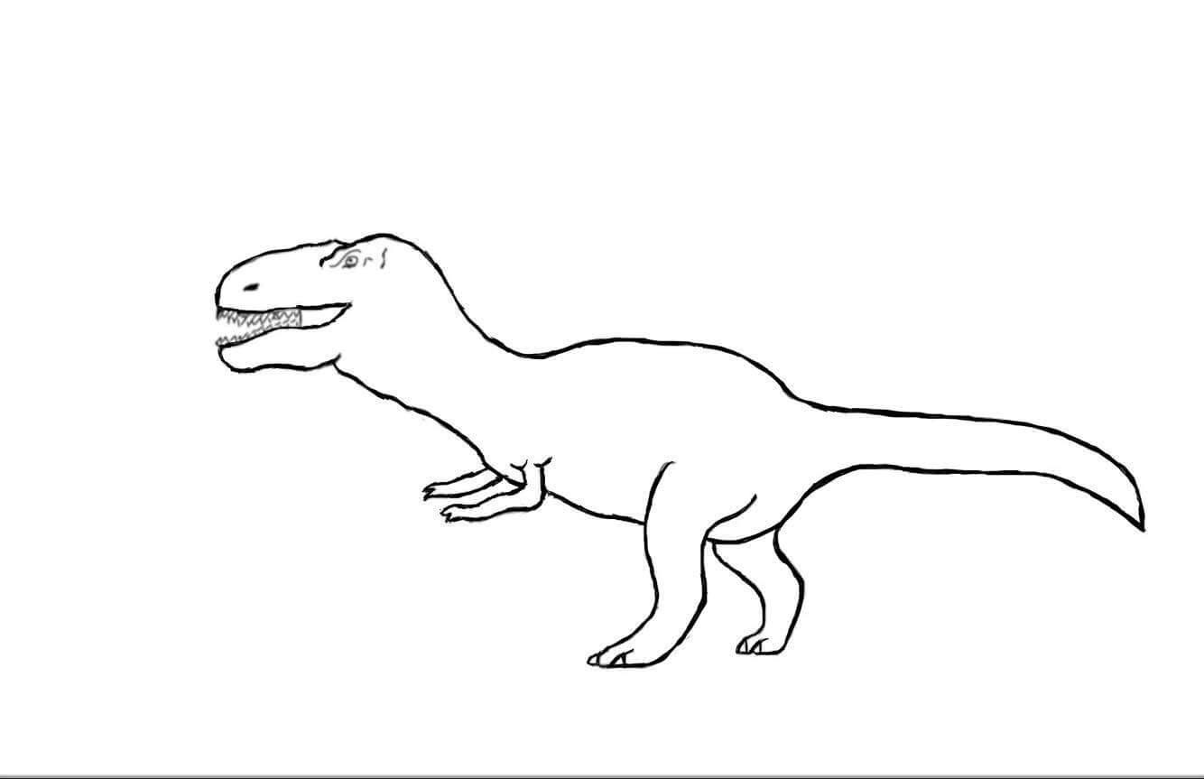 Kleurplaten Dinosaurus Rex.Kleurplaten Voorleestuin Be